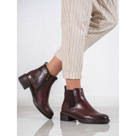 Bordové topánky z eko kože