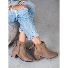 Semišové topánky s mašličkou