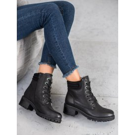 Šnurovacie topánky s kožúškom
