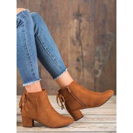 Semišové topánky s mašliškou