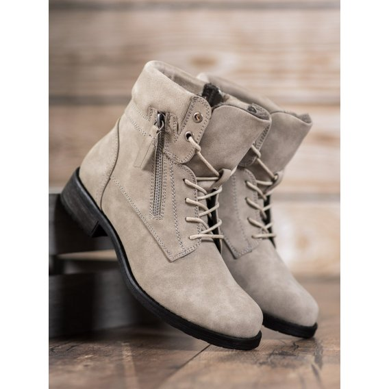 Členkové topánky v odtieni hnedo béžovej