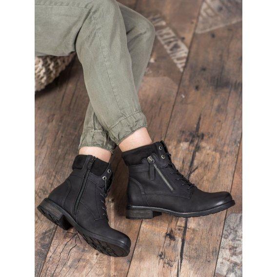 Členkové topánky v čiernom odtieni
