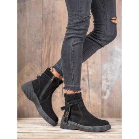 Kožené topánky na platforme