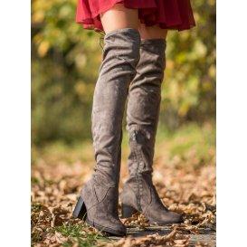 Semišové čižmy nad kolená