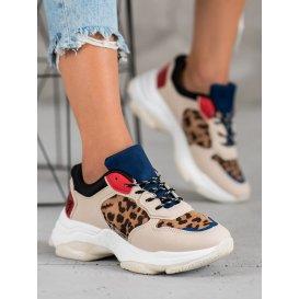 Módne sneakersy s leopardím vzorom