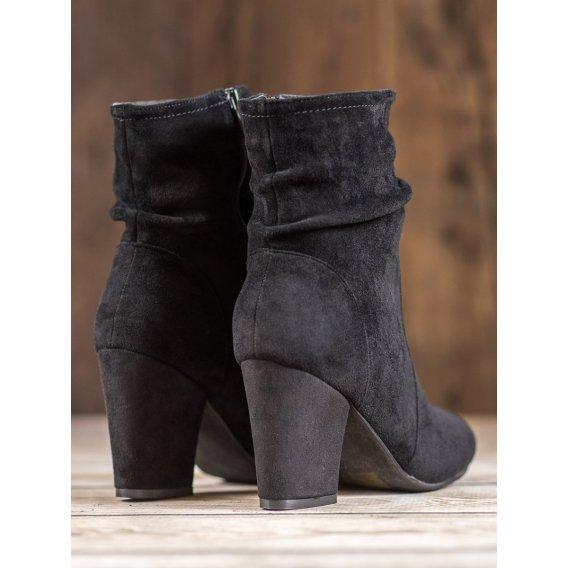 Vysoké semišové topánky