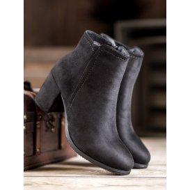 Klasické čierne členkové topánky