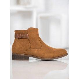 Členkové topánky s ozdobným pásom