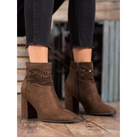 Elegantné hnedé členkové topánky