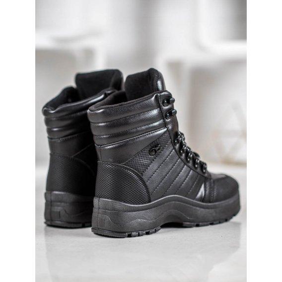 Čierne sneakersy na platforme