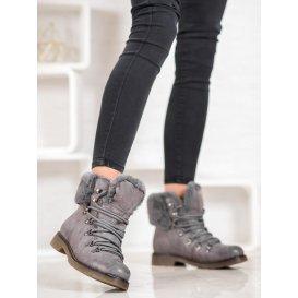 Členkové topánky s kožúškom