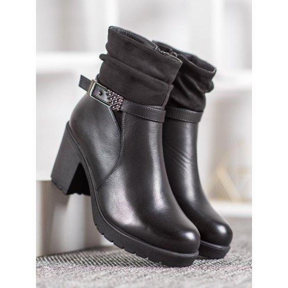 Čierne členkové topánky s prackou