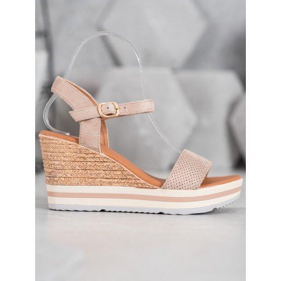 Módne semišové topánky na kline