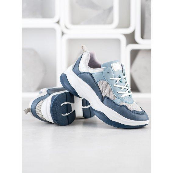 Módne svetlo modré tenisky