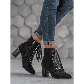 Členkové čierne topánočky