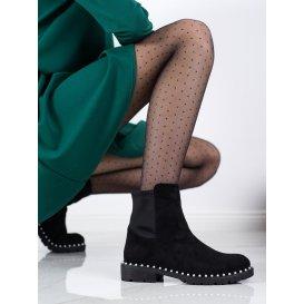 Semiošové topánky s perličkami
