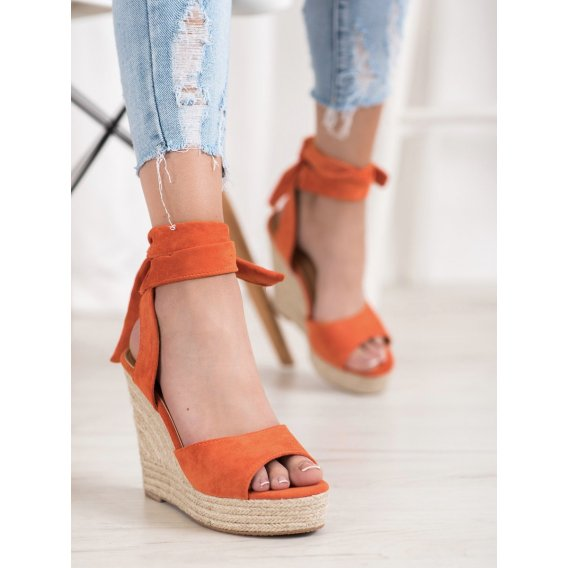 Sandálky espadrilky na vysokom kline