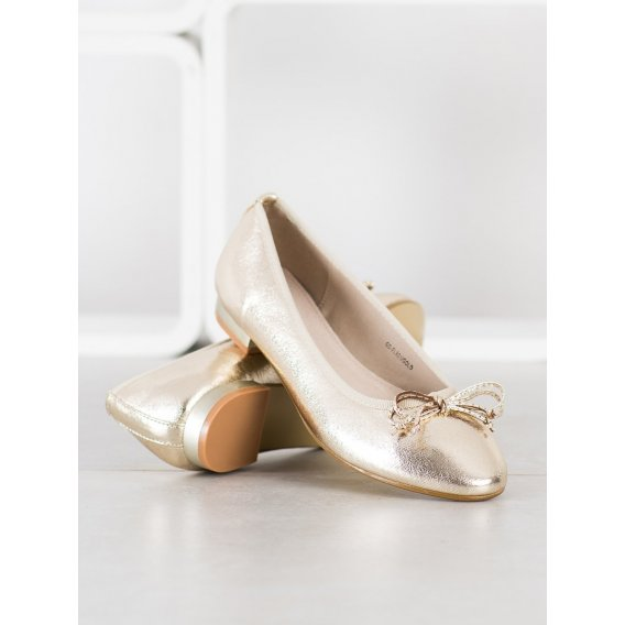Elegantné baleríny s mašľou
