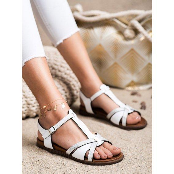 Biele sandálky