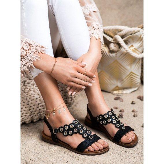 Elegantné sandálky s kamienkami