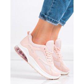Púdrové sneakersy so sieťkou