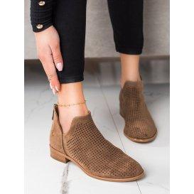 Jarné dierkované členkové topánky