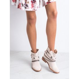 Členkové topánky s ozdobnými pásikmi