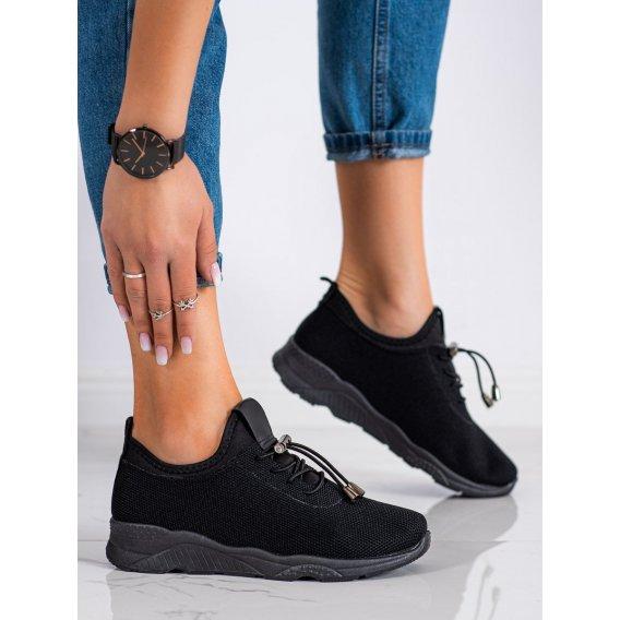 Čierne textilné sneakersy