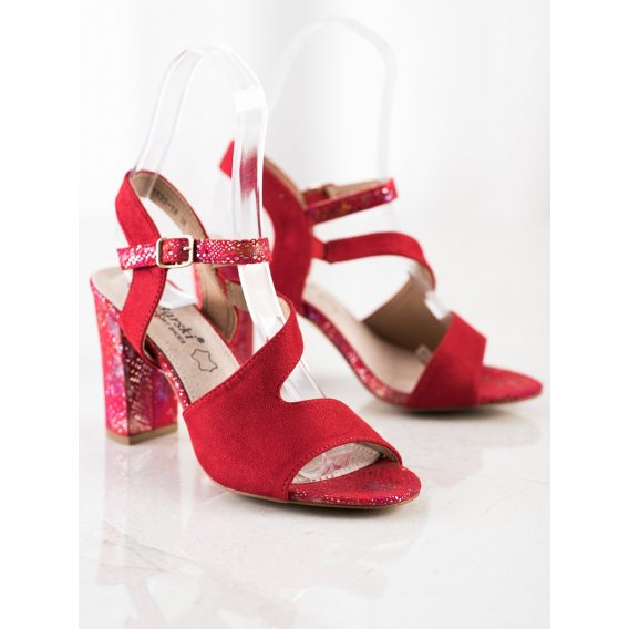 Sandálky s ozdobným podpätkom