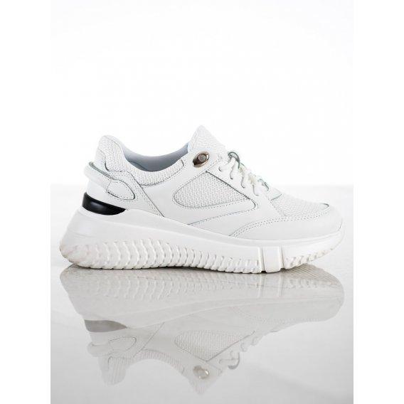 Biele sneakersy s brokátom
