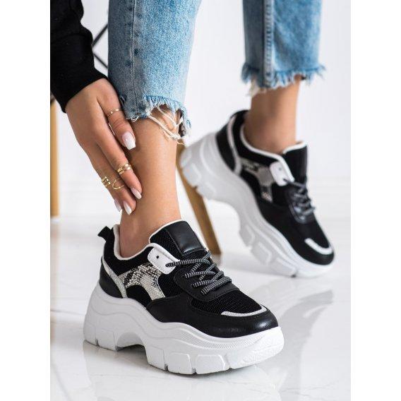Štýlové sneakersy s brokátom