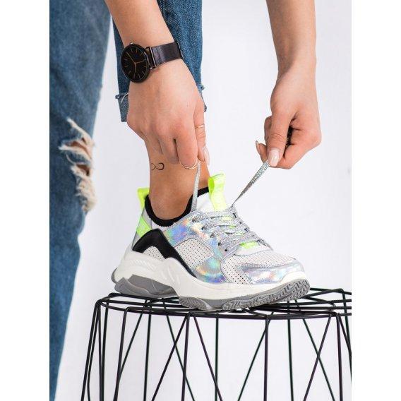 Dierkované sneakersy z kože