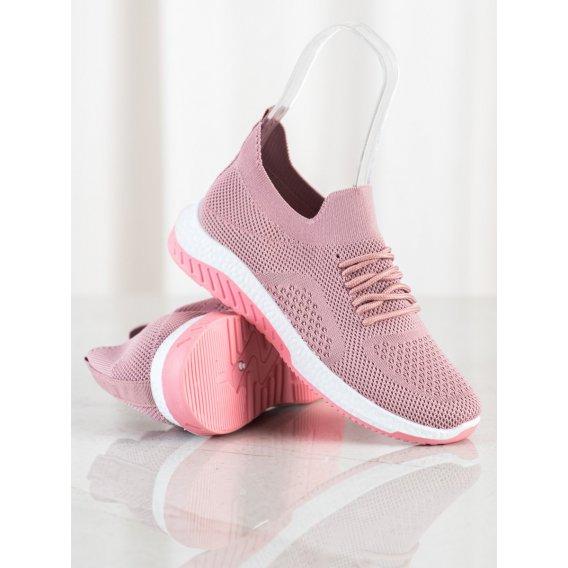 Dierkované ružové sneakersy