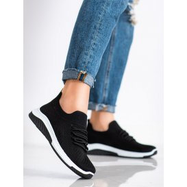 Dierkované čierne sneakersy