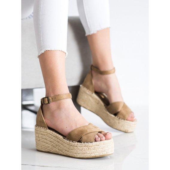 Módne sandálky espadrilky