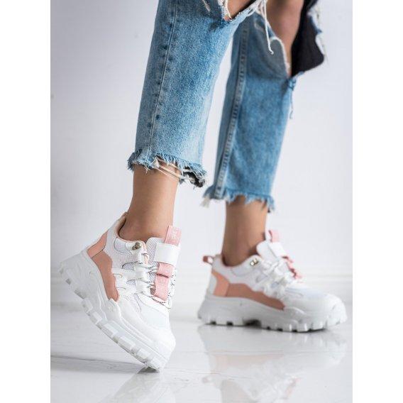 Biele sneakersy Fashion