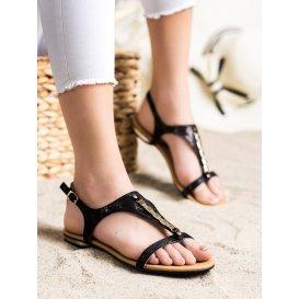 Sandálky so zlatými ozdobami Vinceza