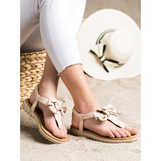 Sandálky žabky s mašľou