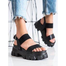 Čierne sandálky na platforme Fashion