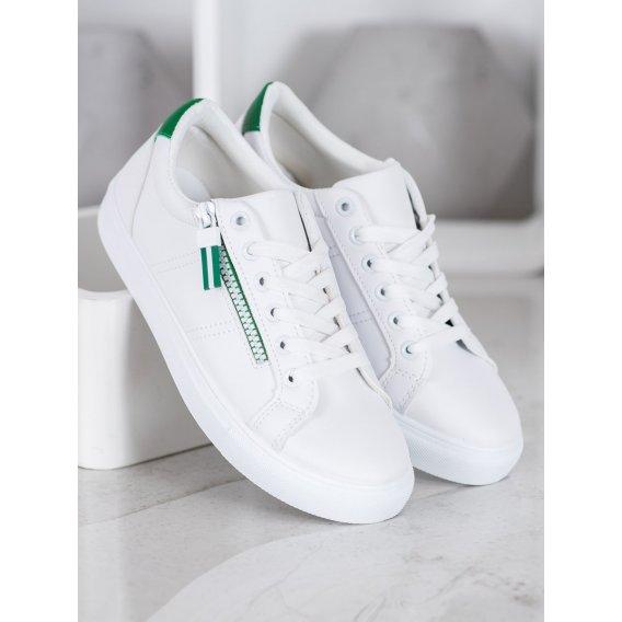 Biele tenisky so zipsom