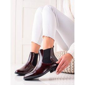 Lakované členkové topánky