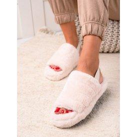 Béžové papuče s gumou