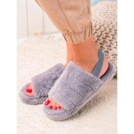Šedé papuče s gumou