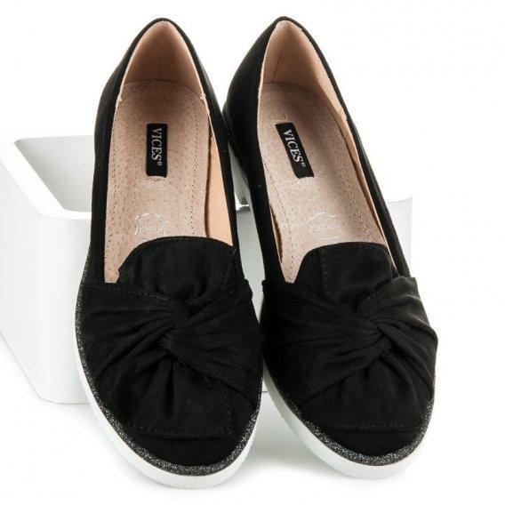 Semišová obuv s brokátovým zdobením 7144-1B