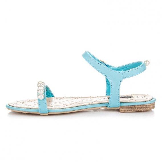 Ploché sandále s korálkami 3094-45MI