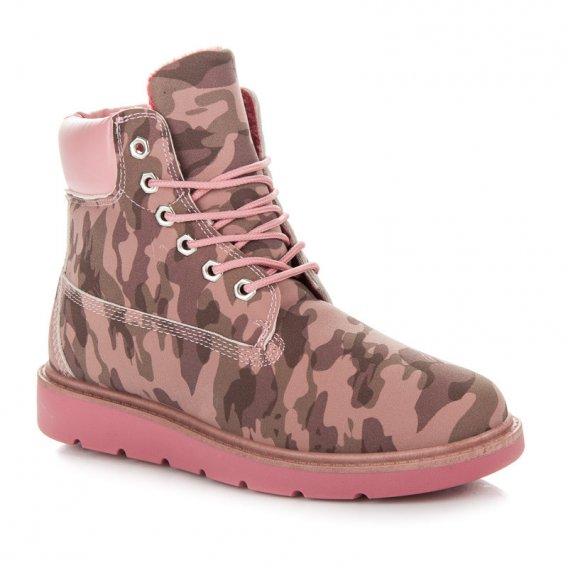 Ružové moro trapery K1713901RO