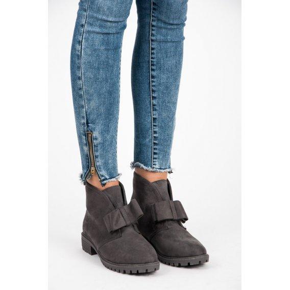 Členková obuv s mašlou AT0625G